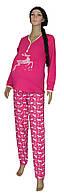 Пижама теплая новогодняя 03218-4 Олени для беременных и кормящих, р.р.52-54, фото 1
