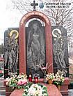 Гранитный памятник для молодой девушки из черного и красного гранита, фото 2