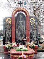 Гранитный памятник для молодой девушки из черного и красного гранита