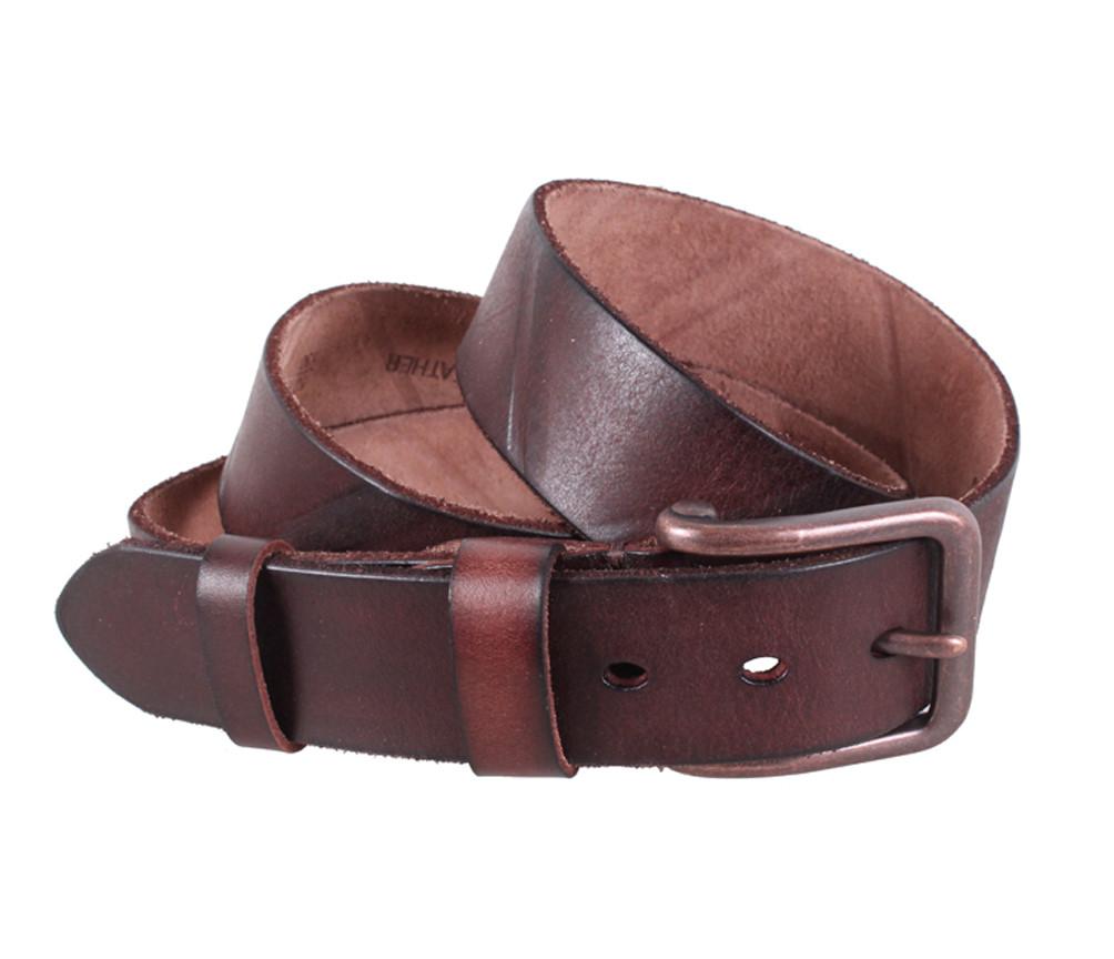 Мужской кожаный ремень Dovhani BUFF000-4 115-130 см Коричневый