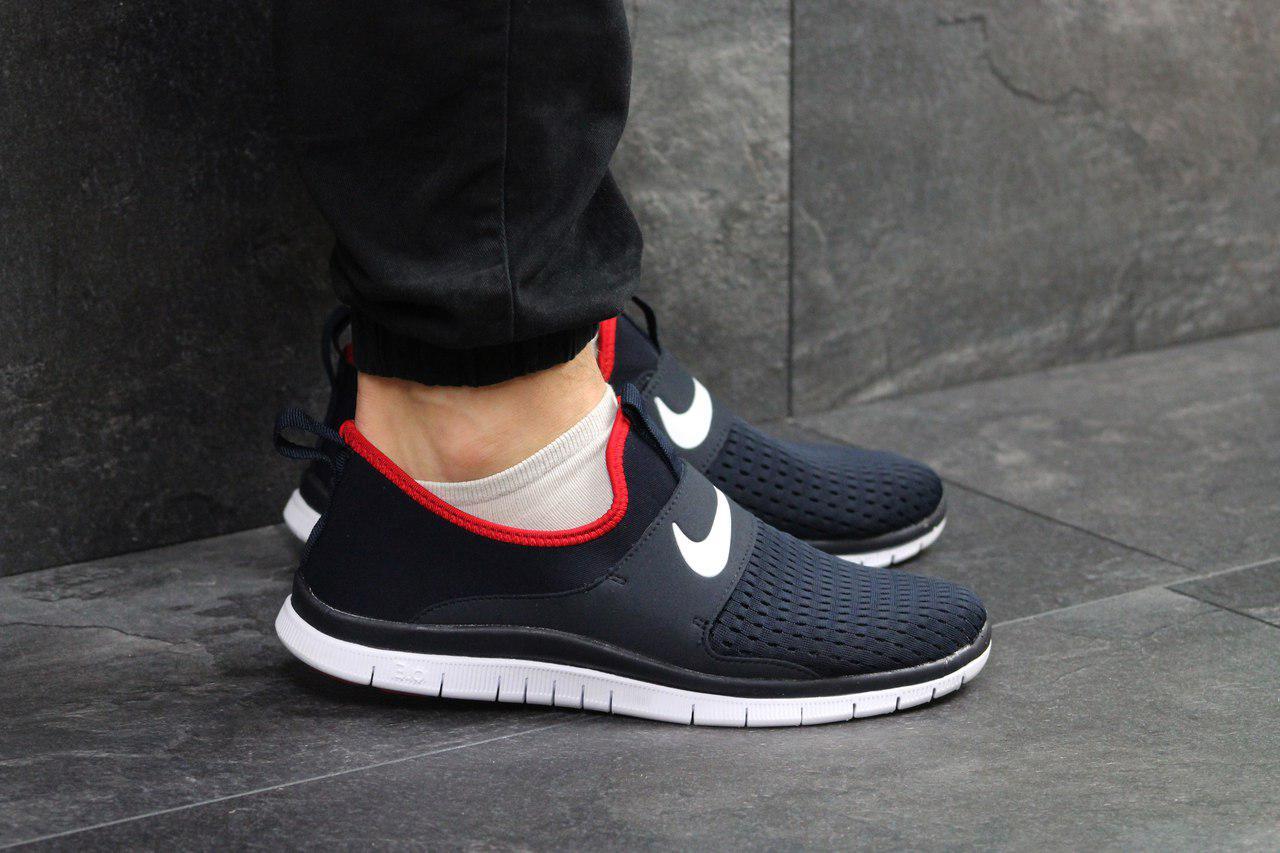 4c41264a989f ... Кроссовки мужские Nike Free Run 3.0 (найк фри ран)реплика сетка,тесно  синие ...