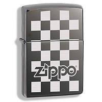 Запальничка Зиппо - Zippo Checkerboard покриття Black Ice®