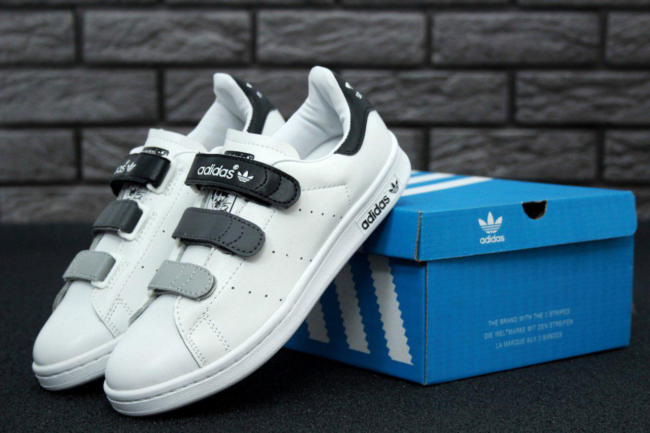 58ce35af Кроссовки женские Adidas Stan Smith CF White/Black Реплика - Work Hard Shop  в Киеве