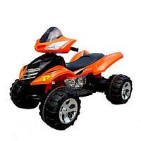 Детский электрический квадроцикл с пультом M 3101 EBLR-7 оранжевый,мягкие колеса