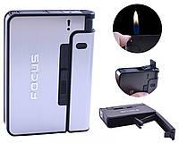 Портсигар Focus с зажигалкой серебристый 4938 в