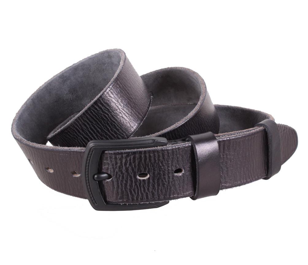 Мужской кожаный ремень Dovhani BUFF000-11 115-130 см Черный