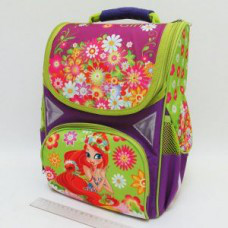 "Рюкзак для девочки J.Otten JO-1709 13,5"" 3отд., ортоп., светоотраж. ""Девочка"" (6)"