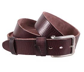 Мужской ремень из натуральной кожи под джинсы BUFF000-7 коричневый