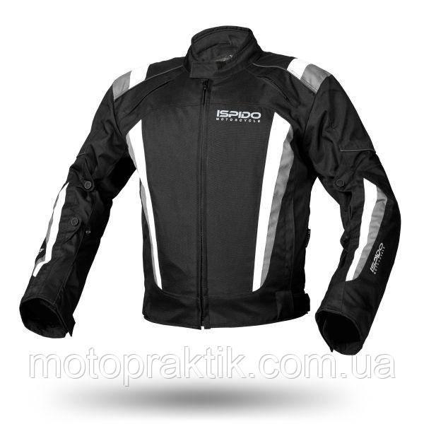Ispido SILVER Black/White/Grey, XS Мотокуртка текстильная