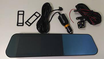 Зеркало заднего вида с видеорегистратором DVR FullHD 1080p B1 c 2ся камерами, фото 3