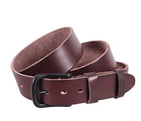 Мужской ремень из натуральной кожи под джинсы BUFF000-9 коричневый