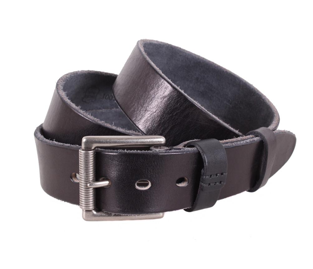 Мужской ремень из натуральной кожи под джинсы BUFF000-12 черный