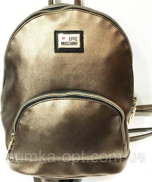 Городские рюкзаки кожзам опт (бронза)24*31