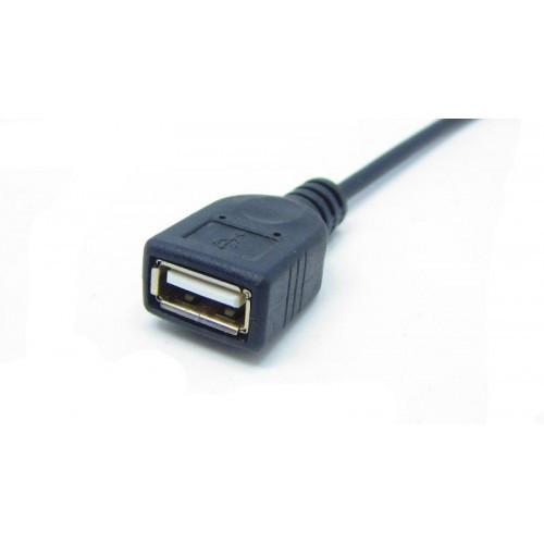 Разъем USB мама с кабелем 15см