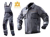 Костюм рабочий мужской спецодежда куртка с полукомбинезоном весна/осень AURUM (цена за брюки+полукомбинезон)