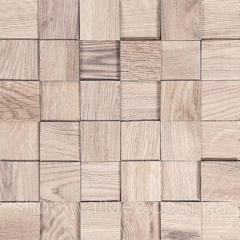 Деревянная панель 3D TONING Tessera white