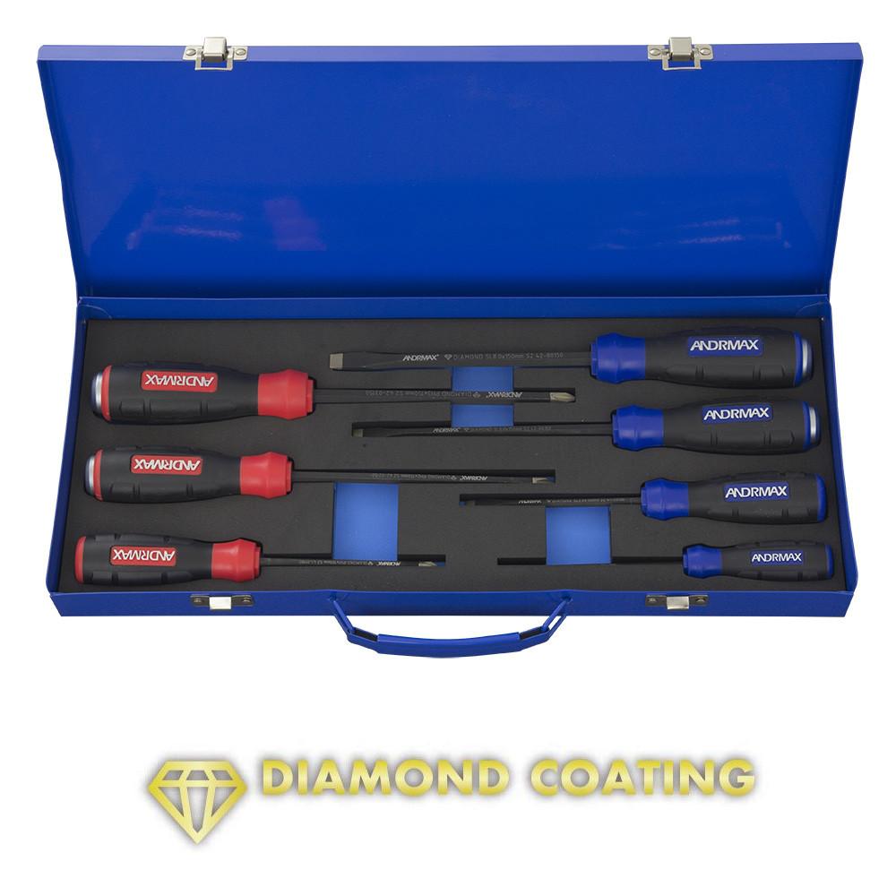 Набор отверток стандартных и силовых, 7 предметов ANDRMAX