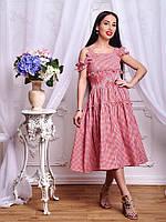 Красивое платье в модную клетку