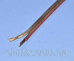 Кабель акустический медный прозрачный 2х1,50мм кв. Cabletech KAB0319