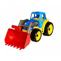 Трактор пластиковый с ковшом машинка пластмассовая машина ТехноК, 1721, 002579