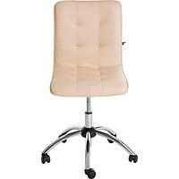 Кресло Новый Стиль Bit GTS Chrome ECO-07 молочное