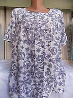 Женская блузка летняя батал оптом
