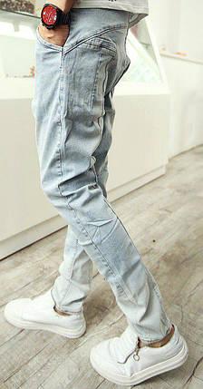 Светлые джинсы со шнурками, XS, фото 2