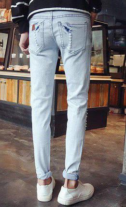 Светлые джинсы с потертостями,  M, фото 2