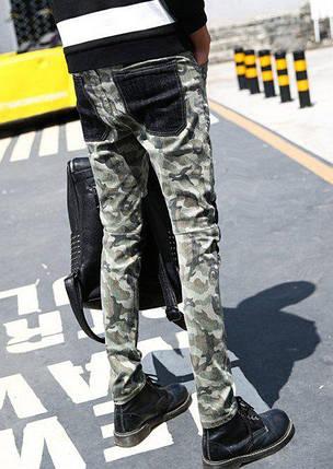 Камуфляжные джинсы со вставками на коленях,  S, фото 2