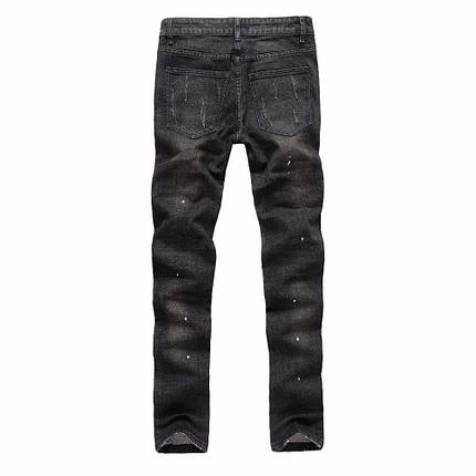 Рвані джинси з кишенями на блискавках, M, фото 2