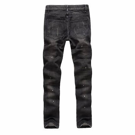 Рваные джинсы с карманами на молниях, L, фото 2