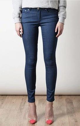 Жіночі сині джинси, L, фото 2