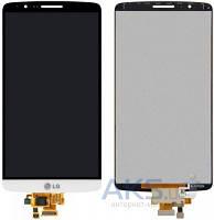 Дисплей (экран) для телефона LG G3 D855 + Touchscreen Original White