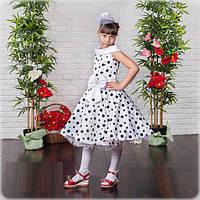 Праздничное платье в горох  для девочек