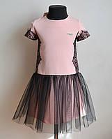 Нарядное детское платье для девочки с кружевом, фото 1