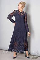 Платье Элана Леся Украинка темно-синего цвета
