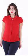 Женские блузки с коротким рукавом, без рукава.  р42-48