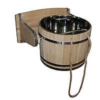 Ведро-водопад для бани из дуба, 25 л