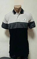 Мужская футболка черно-белая Adidas с воротником
