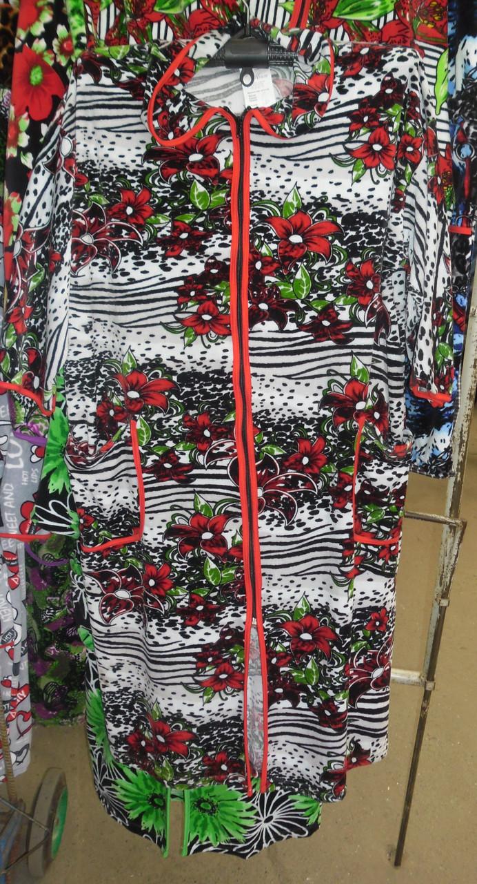 Купить велюровый халат р.50-52