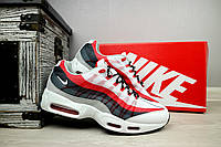 Мужские кроссовки Nike AirMax 95 (белые), ТОП-реплика, фото 1