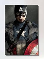 Картина 40х60см Капитан Америка с щитом