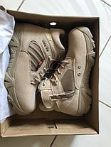 Низкие Песочные тактические ботинки короткие берцы Delta Combat Cordura, фото 2