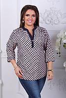 Женская блузка летняя батал 041 оптом