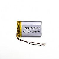 Аккумулятор универсальный 033350 (Li-ion 3.7В 1000мА·ч), (50*33*3 мм)