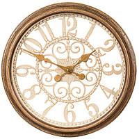 """Часы настенные """"Brown crack"""", коричневые , 35 см."""