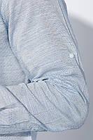 Рубашка классическая светлая 333F013 (Индиго)