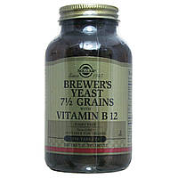 Пивні дріжджі з вітаміном В12 Солгар, 250 таблеток