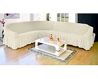 Натяжные чехлы на угловой диван с креслом, фото 1