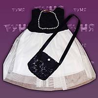 Детское нарядное платье для девочек 2,3 года